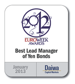 201301 Euroweek Best Lead Manager Of Yen Bonds