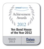 201302 Emea Finance Yen Bond House Of The Year 2012
